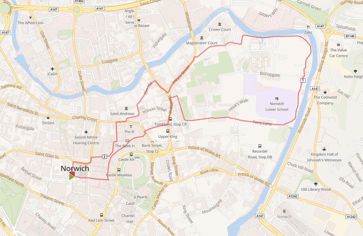 Norwich City walks