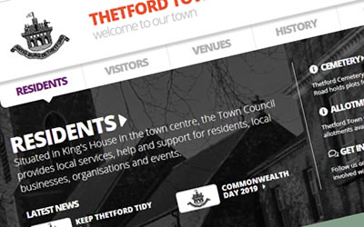 Thetford Town Council Website