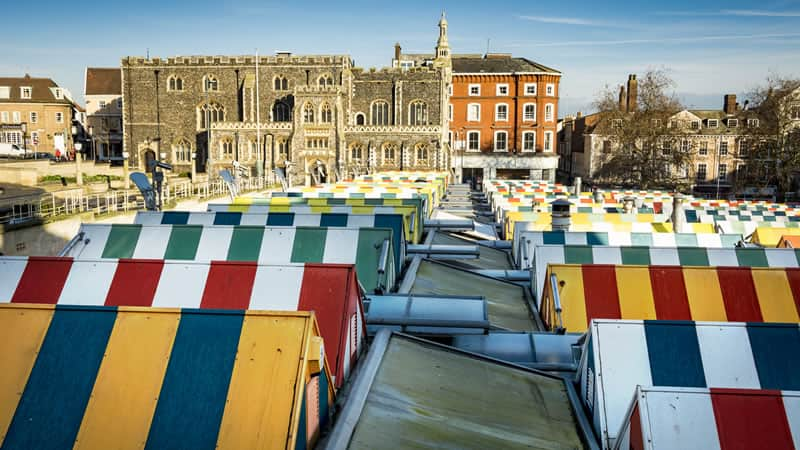 Enjoy food from around the world on Norwich Market
